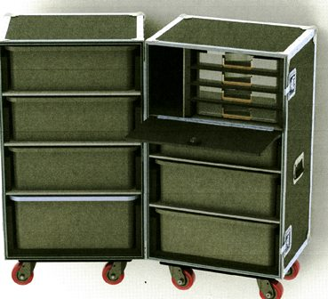 Custom HD Wilson Double Drawer Upright Trunk-W206-DP68-610