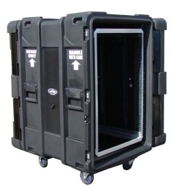 "SKB 24"" Deep 12 Unit Roto-Molded Shock Rack Cases"