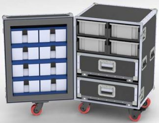 HOTELPRO-2 Upright Drawers-Trays-Bins Road Case-DP68-991