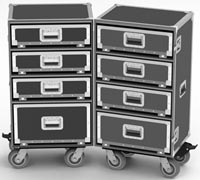 DoublePro-1 All Drawers Upright Road Case-Model DP68-980